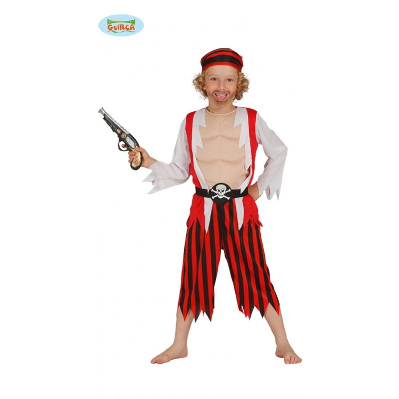 Disf.Inf.Pirata Rojo 10-12Años