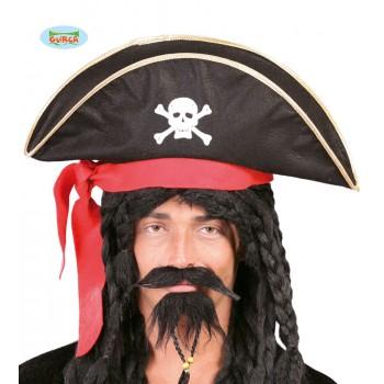 Gorro Pirata C/Cinta Roja
