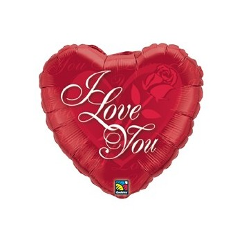 Globo Corazon I Love You Rosa