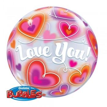 Globo Burbuja I Love You