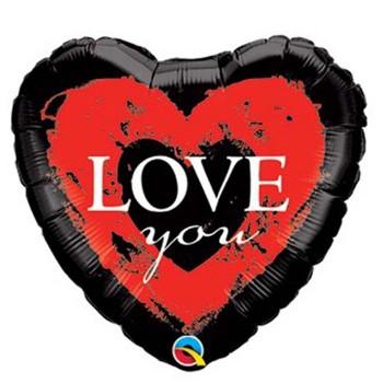 Globo Palo Corazon Negro Love