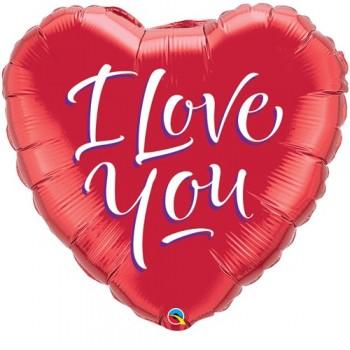 Globo Palo Rojo I Love You