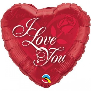Globo Palo Corazon I Love You