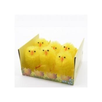 B/6 Pollitos Amarillos 3,5Cm