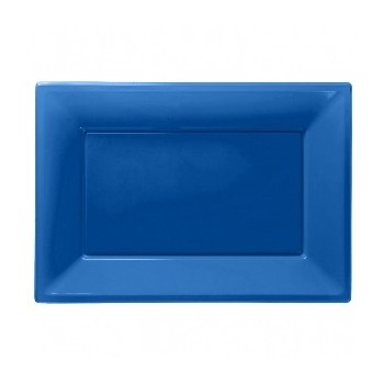 P/3 Bandeja Pl.Azul 33X23cm