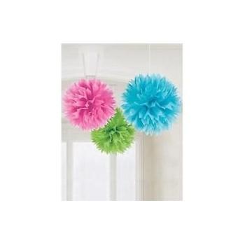 P/3 Pompon Papel 3 Colores