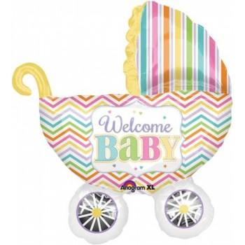 Globo Carrito Welcome Baby