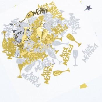 Confetti Mesa Triple Boda Oro