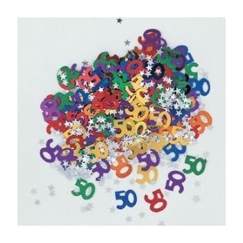 """Confetti """"Nº50"""" Metalizado"""