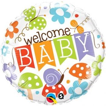 "Globo 18"" Welcome Baby Jardin"
