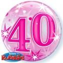"""Globo 22"""" Burbuja 40 Rosa"""