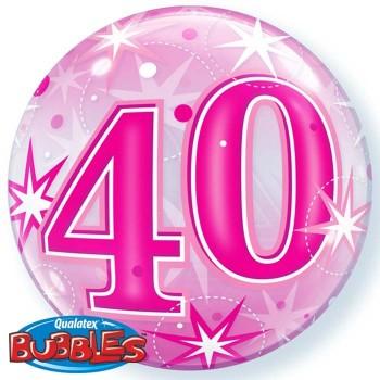 Globo Burbuja Nº40 Rosa