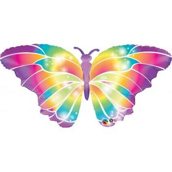 Globo Mariposa Brillos 112Cm