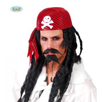Gorro Pirata Roj/Neg