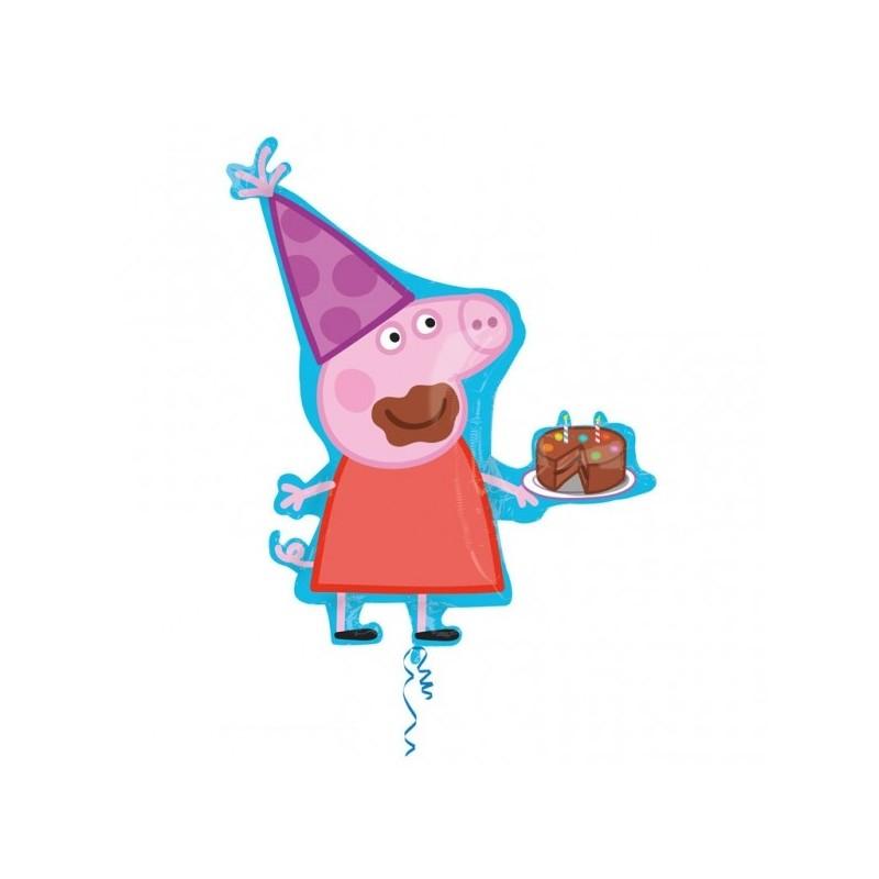 Globo Forma Peppa Pig C/Tarta