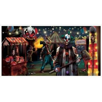 Cartel Circo Halloween 85X165c