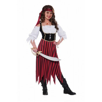Disf.Teen Pirata  Falda Rayas
