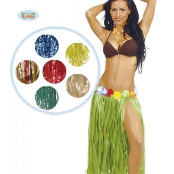 Falda Hawaiana Flores 75Cm