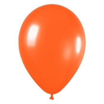 B/50 Globos R12 Metal Naranja