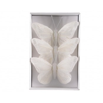 C/3 Mariposas Blanca Brillo 10