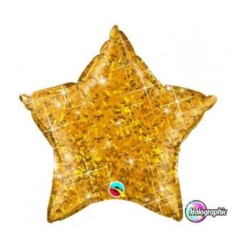 Globo Estrella Oro Holograf
