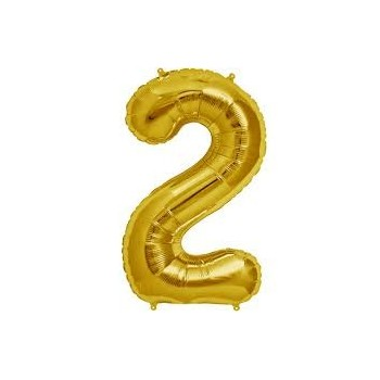 Mini Globo Numero 2 Oro