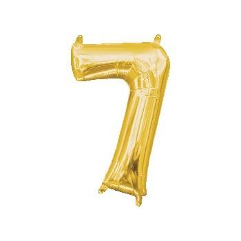 Mini Globo Numero 7 Oro