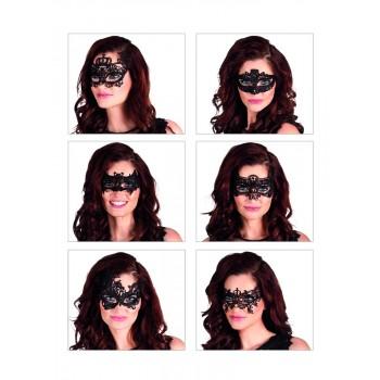 Mascara Bordada Negra Surt.