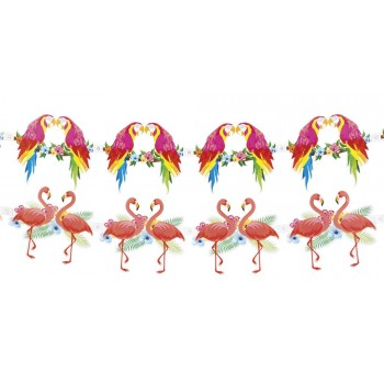 Guirn. Flamencos/Loros 3Mt