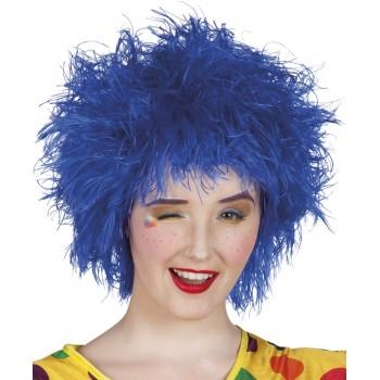 Peluca Corta Azul Frizzy