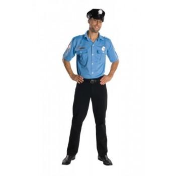 Camisa Policia C/Gorro Y Placa