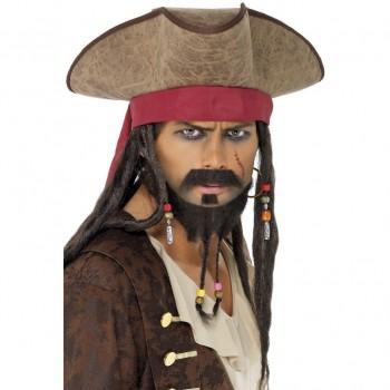 Sombrero Pirata C/Cinta Roja