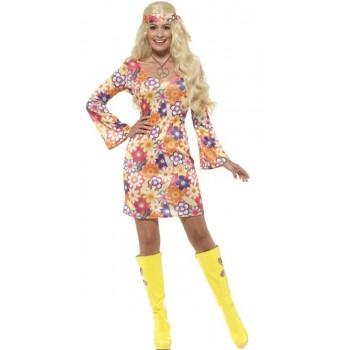 Disf.Vestido Hippie Flower Txl