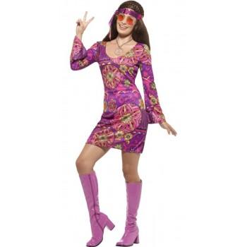 Disf.Vestido Chica Hippie T-Xl