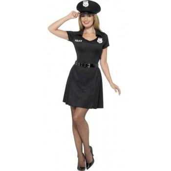 Disf.Vestido Policia Negro T-M