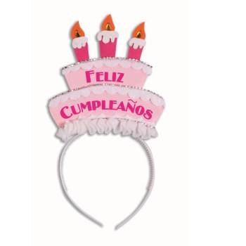 Diadema Tarta Feliz Cumpleaños