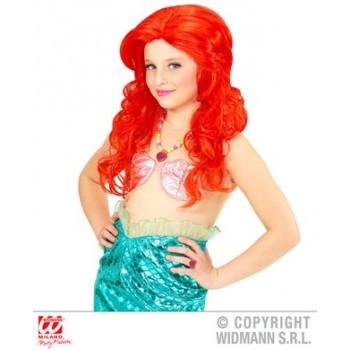 Peluca Sirena Roja