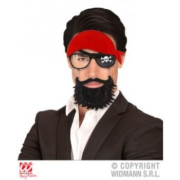 Gafas Pirata Pañuelo+Barba