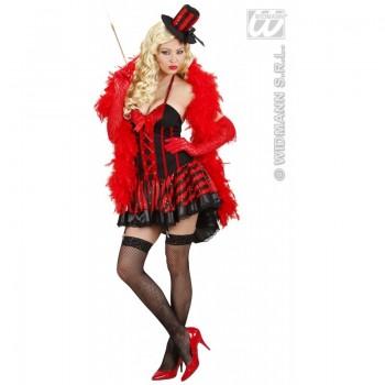 Disf.Burlesque Rojo/Negro T-M