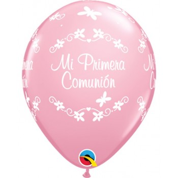 "Globo 11""Rosa Comunion Maripos"