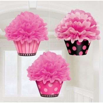 P/3 Deco.Colg.Pompon Cupcake