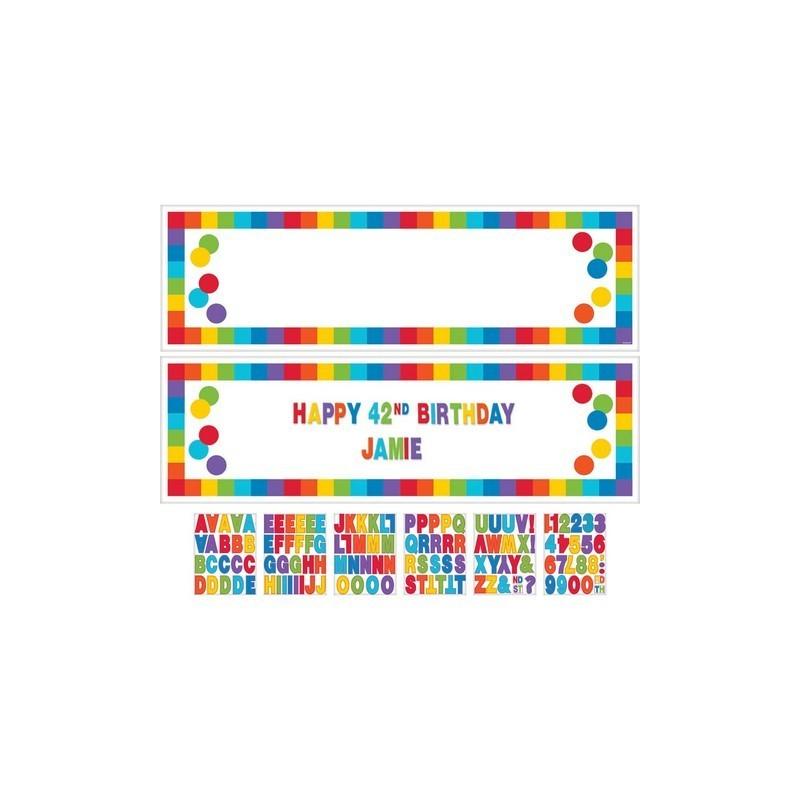 Banderin Person.B-Day Rainbow