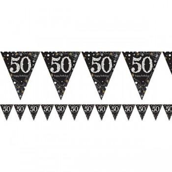 Banderin Spark.Negro Nº50 1.8M