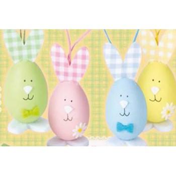 B/3 Huevos Conejos 9Cm