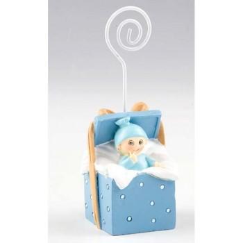 Portafoto Bebe Caja Azul
