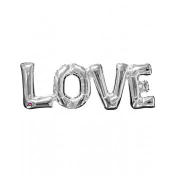 "Globo Letras ""Love"" Plata"