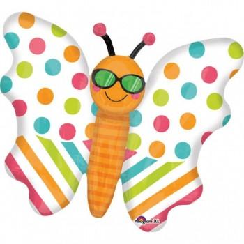 Globo Mariposa Colores C/Gafas