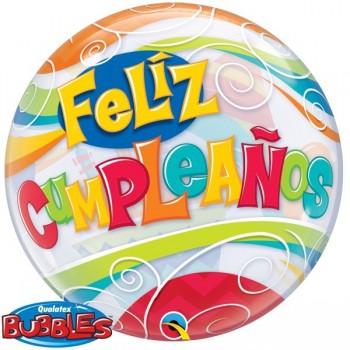 """Globo 22""""Bur.Feliz Cump.Fiesta"""