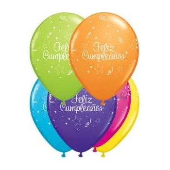 "Globo 11"" Feliz Cumple Multic"