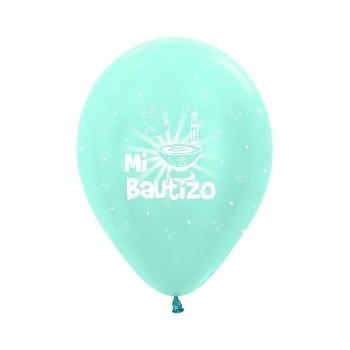 B/10 Globo R12 Azul Sat.Bautiz